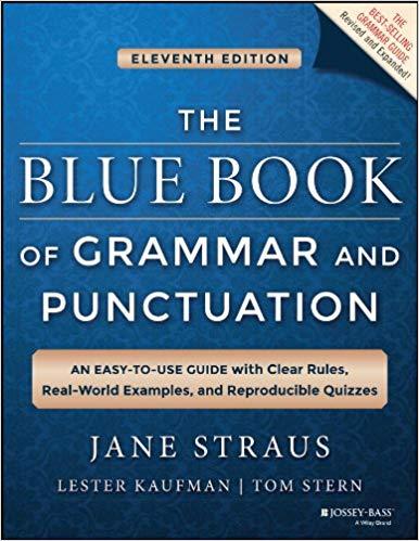 """Capa do livro """"The blue book of Grammar"""""""