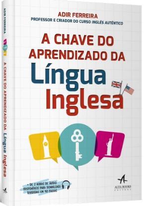 """capa do livro """"A chave do aprendizado da língua inglesa"""""""